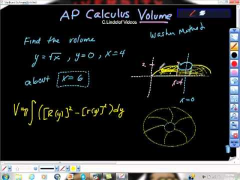 Ap calculus ab volume of revolution about x equals 6 washer method ap calculus ab volume of revolution about x equals 6 washer method publicscrutiny Choice Image