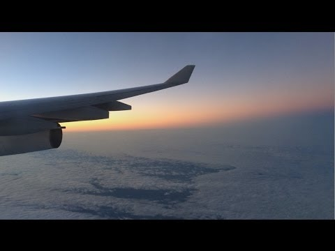 Amazing flight | Air France from Bogota to Paris CDG Airbus 340-313 2014 [HD]