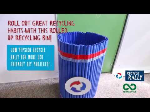 Pepsico Recycling Diy Rolled Up Recycling Bin Terracycle Diy