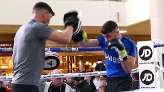 THE MADMAN Scott Fitzgerald DROPS BOMBS on the pads | Matchroom Boxing workout