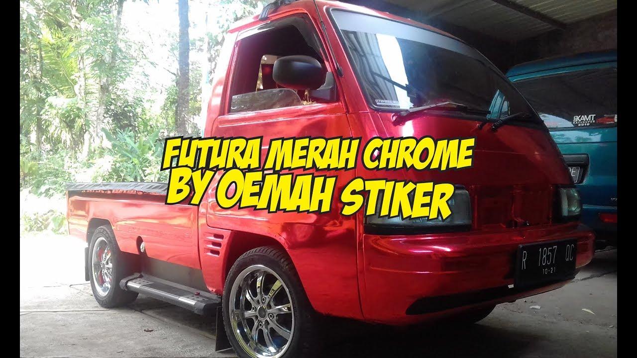 Modifikasi Futura Pickup Merah Krom Red Chrome By Oemah