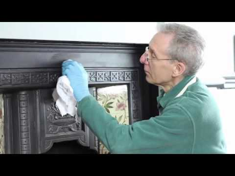 Restoring a Victorian Fireplace with Liberon Iron Paste - from Rest Express