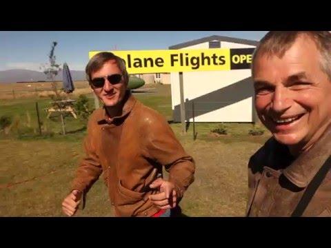 Biplane flight in Twizel, New Zealand