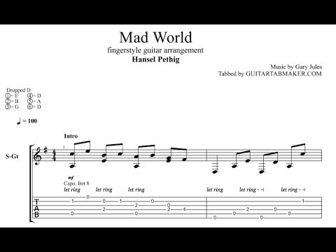 6.1 MB) Mad World Tab - Free Download MP3