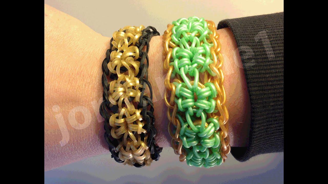 New Rainbow Loom Open Starburst Bracelet One Or Two