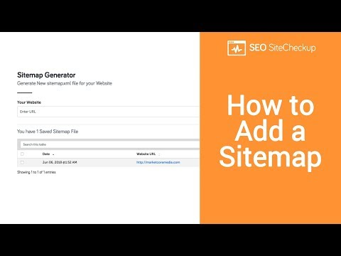 How to Add a Sitemap