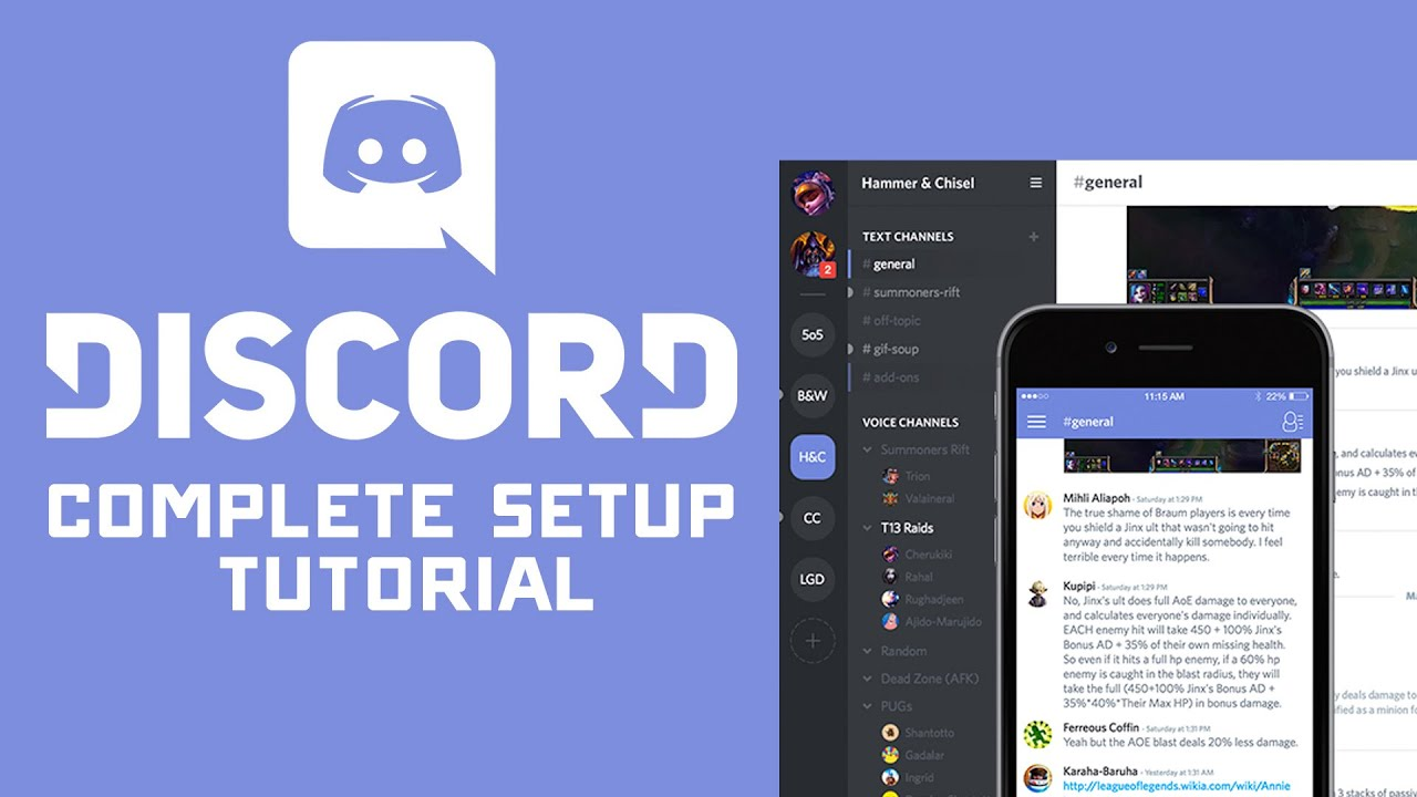 Complete Discord Voice Chat & Server Setup Tutorial