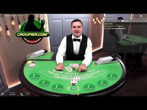 Online Blackjack Dealer Laughing At My Bad Luck! Mr Green Live Casino!