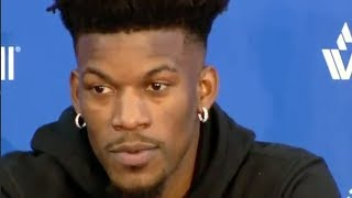 Jimmy Butler SHADES Wolves Teammates During OFFICIAL Sixers Intro Press Conference