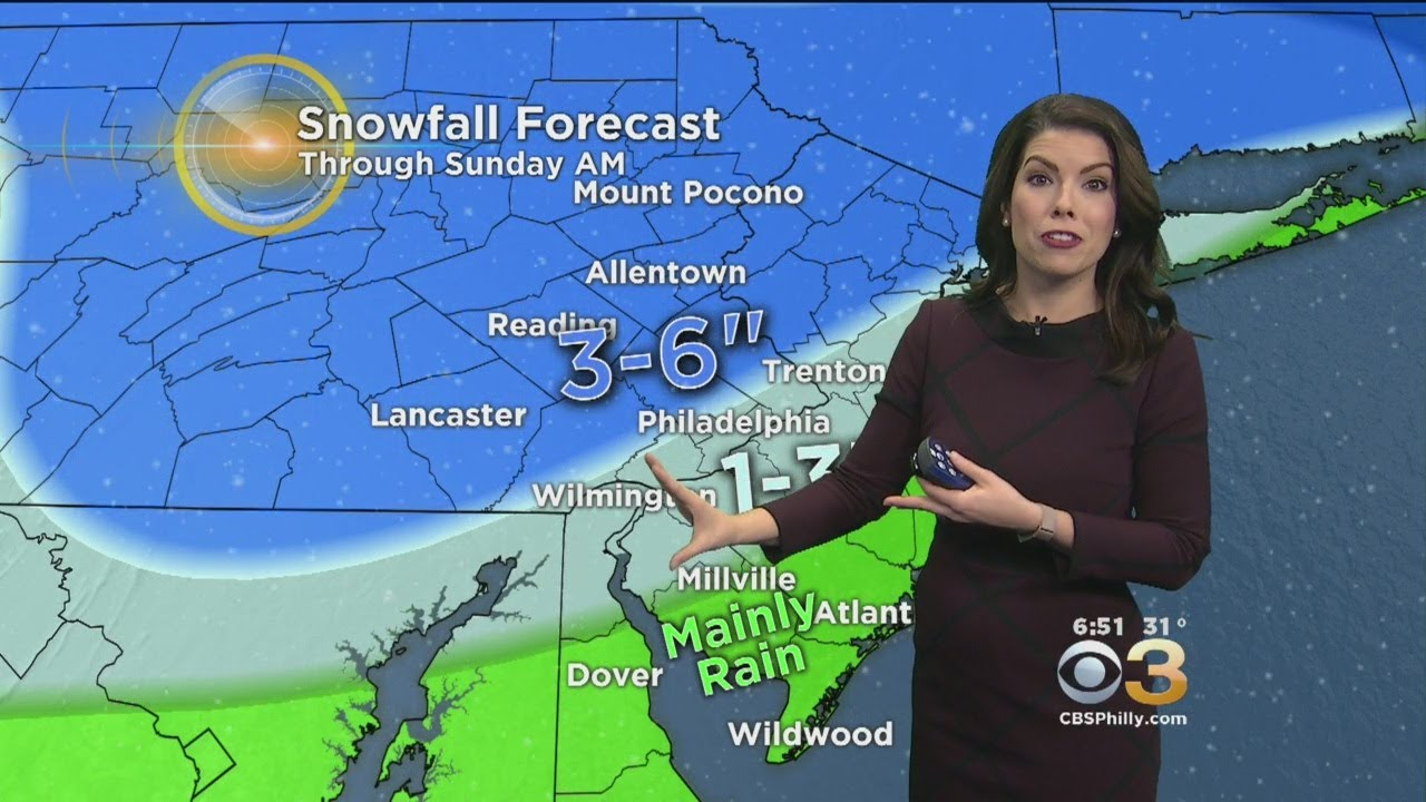 Chelsea's Snowy Saturday Forecast (February 17, 2018)