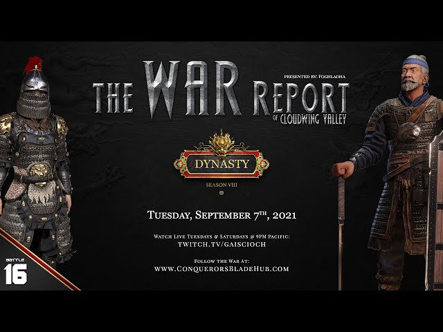 Battle 16: The War Report of Cloudwing Valley (NA-West)