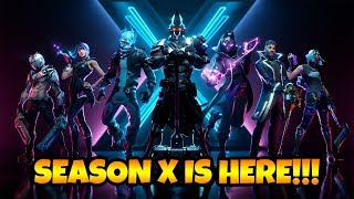 Fortnite Season X IS HERE! 10.0 Patch Notes + Leaked Item Shop Skins!