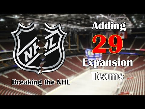Adding 29 EXPANSION TEAMS In Franchise Hockey Manager 6 (FHM6)