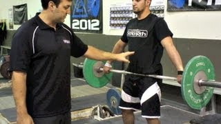 Weightlifting Tips - Staying Back on the Snatch