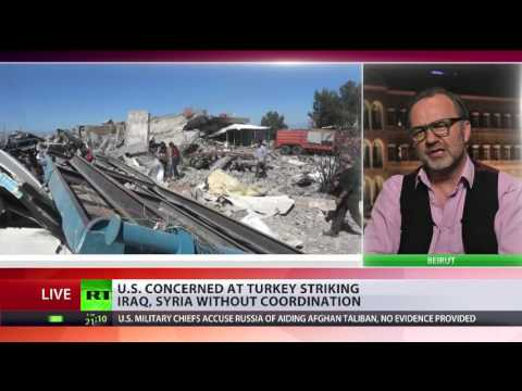 Why did Erdogan really bomb the Kurds in Syria & Iraq?  Martin Jay talks to RT International