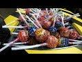 Shredding Machine Crushing 120 CHUPA CHUPS LOLLIPOPS Candy Destruction and Shred