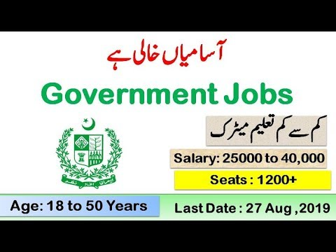 Department of Environmental Protection Jobs of Punjab Lahore 2019 Last announcement