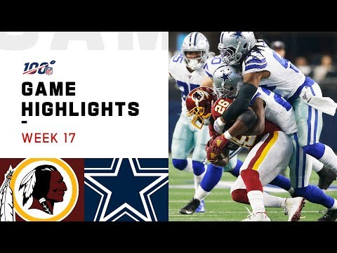 Redskins Vs. Cowboys Week 17 Highlights | NFL 2019