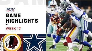 Redskins vs. Cowboys Week 17 Highlights