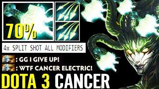 WTF Dota 3 Cancer!!? 70% Mjollnir Chance Imba Medusa 4x Split Shot All Modifiers Dota 2 Pro Gameplay