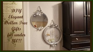 Glam Dollar Tree DIY Affordable Handcraft Decorative Mirror and Hanging Earring Holder