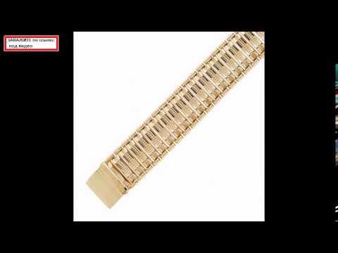 Массивный мужской браслет из золота - YouTube