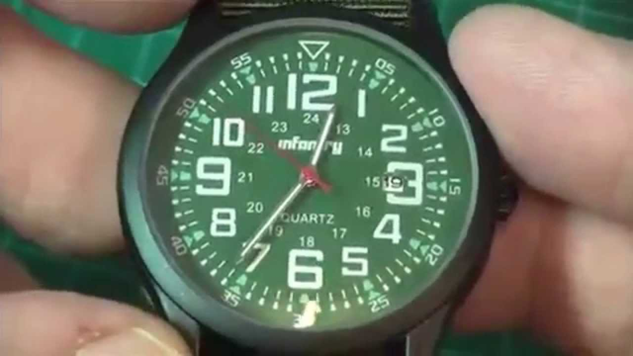 Infantry Military Army Date Watch - Review