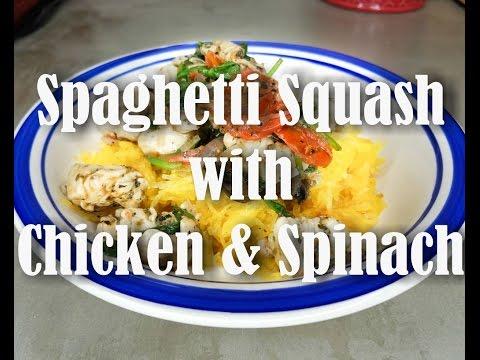 Spaghetti Squash With Chicken And Spinach Recipe