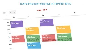 Event/Scheduler calendar in asp.net MVC application thumbnail