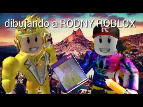Dibujando A Rodny Roblox En Anime Youtube