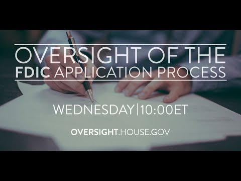 Oversight of the FDIC Application Process