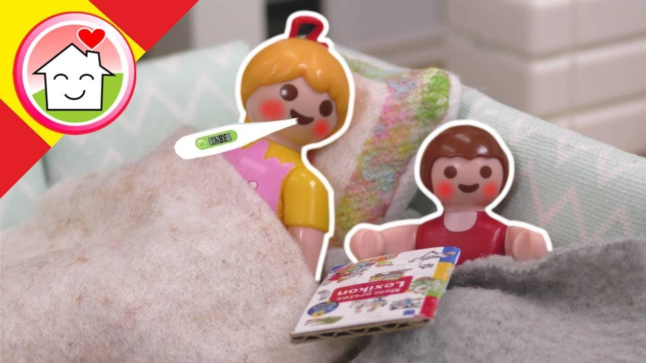 Playmobil en español Anna y Lena tienen fiebre - La familia Hauser