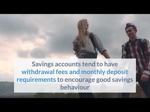 What's the difference between a savings account and a transaction