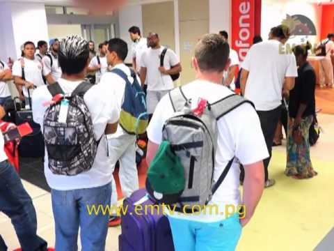 Tahiti Arrive in Port Moresby for Oceania Cup