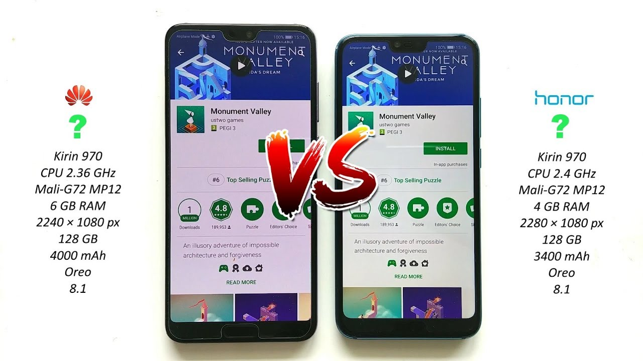 Huawei P20 Pro vs Honor - We Have A WINNER 10 -
