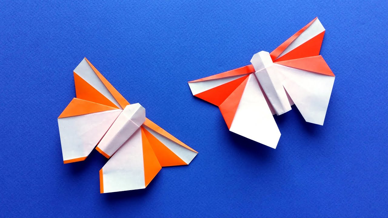 How To Make A Beautiful Origami Butterfly