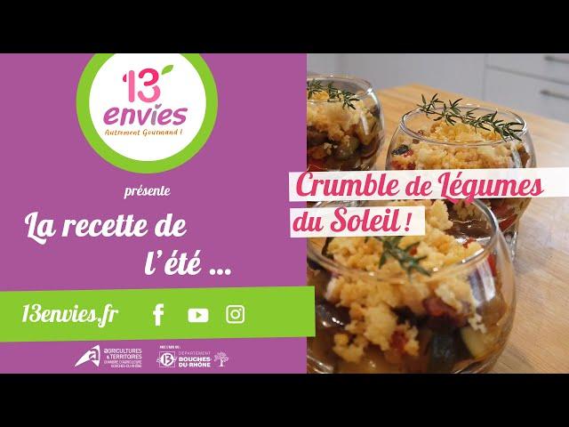 RECETTE DU CRUMBLE DE LEGUMES DU SOLEIL, 13'ENVIES !