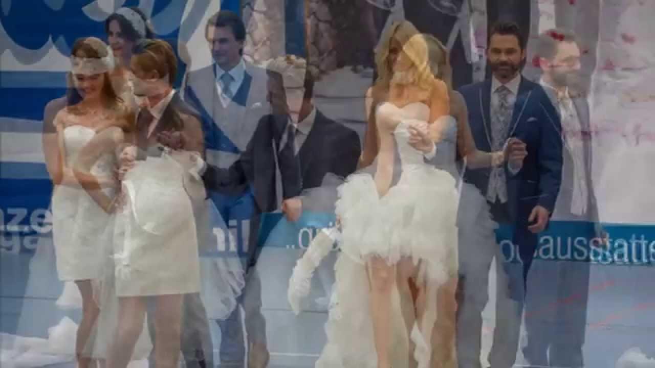 KLEIDER MÜLLER HOCHZEITSMESSE mit Modellen 2015 - YouTube