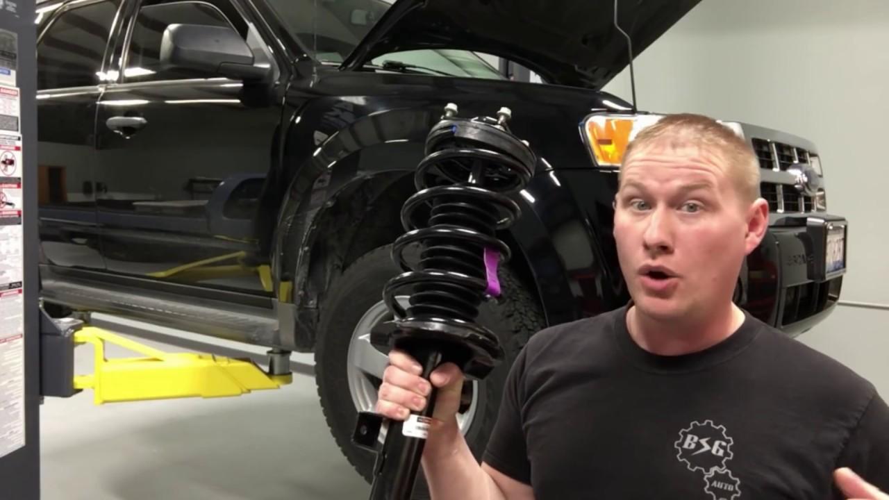 medium resolution of 2001 2012 ford escape front suspension motorcraft loaded strut install