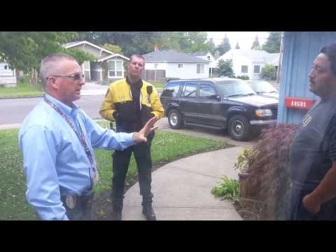 Hillsboro Oregon cops harass my sister in-law and brother-in-law, but they stand their ground