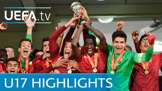 UEFA Under-17 final highlights: Portugal v Spain