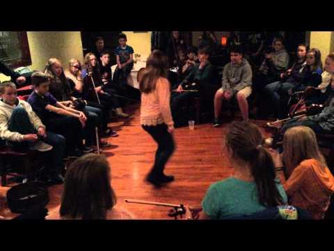 Irish Step Dance by Trad Youth Exchange Musician at Harrington's