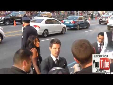 Robbie Amell greets fans outside the Nine Lives Premiere at TCL Chinese Theatre