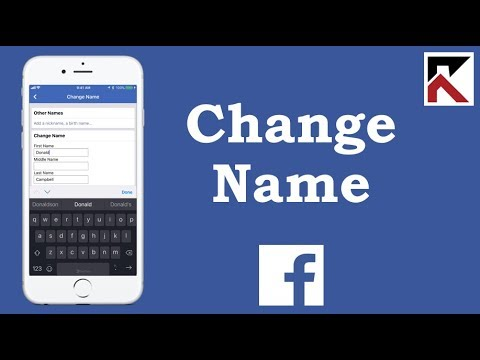 iphone name on change how facebook to profile