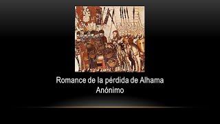 Romance de la pérdida Alhama