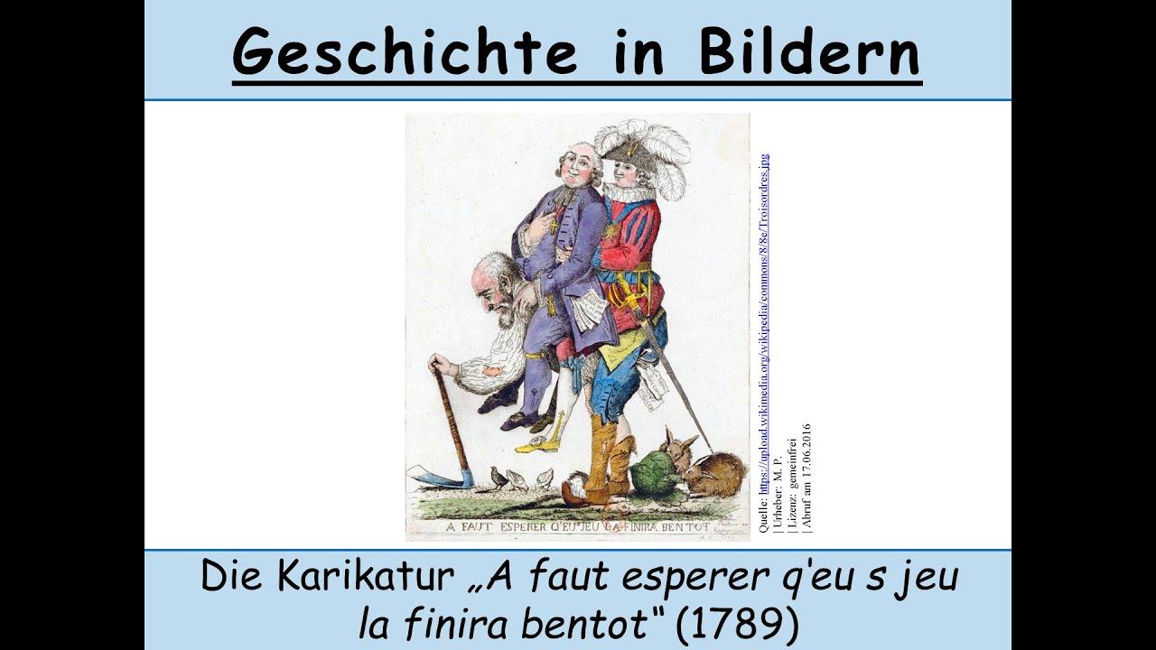 karikaturen zur franzsischen revolution 1 karikaturen bilder analysieren interpretieren - Bildbeschreibung Franzosisch Beispiel