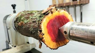 Woodturning – Red goblet!