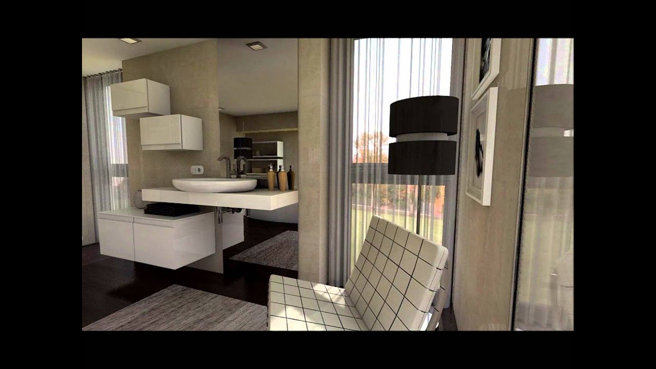Dise o interior dormitorio en suite minimalista youtube for Diseno interior minimalista