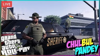 GTA 5 RP LIVE 🔴 Sheriff Chulbul Pandey in ACTION 👮• GTA 5 Role Play