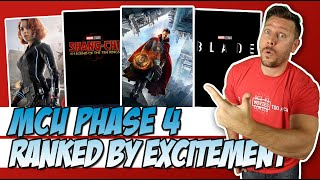 MCU Phase 4 Movies Ranked by Excitement!